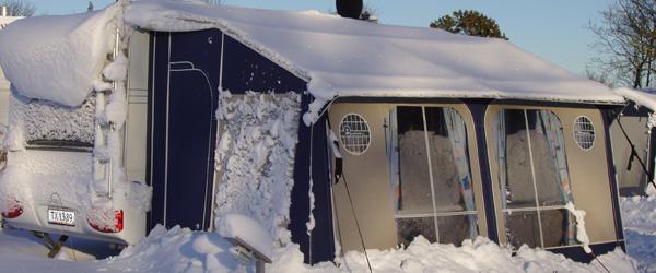 Vintercamping i Sæby – trods hård vinter