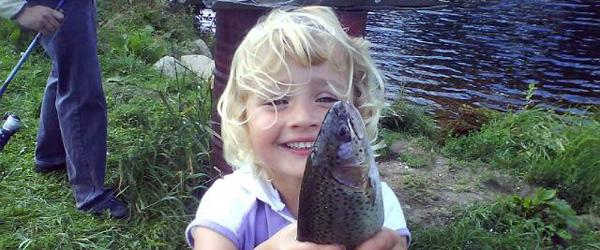 Børn får gode oplevelser på Lystfiskeriets Dag