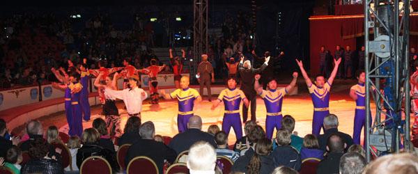 Flot forestilling af Cirkus Arena lørdag eftermiddag