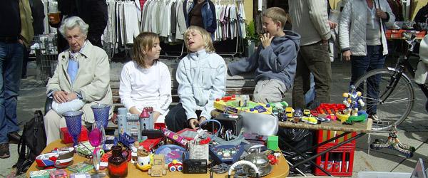Stort børneloppemarked på Torvet i Sæby