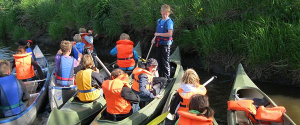 Kanotur i 6A gav våde bukser til de voksne