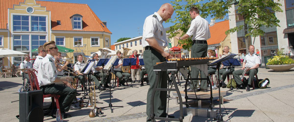 Prinsens Musikkorps på lynvisit i Sæby