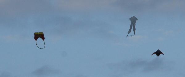 Flyvende objekter i luften over Sæby