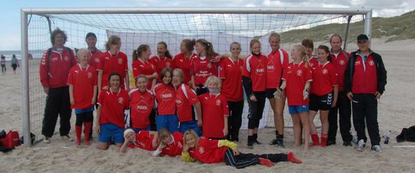 Skjoldmøer til Beach Soccer i Blokhus