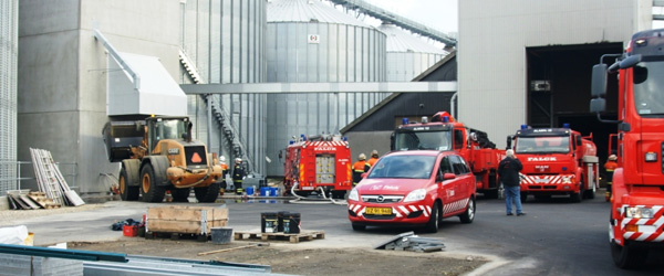 Brand i kornsilo på Kvisselholtvej i Agersted