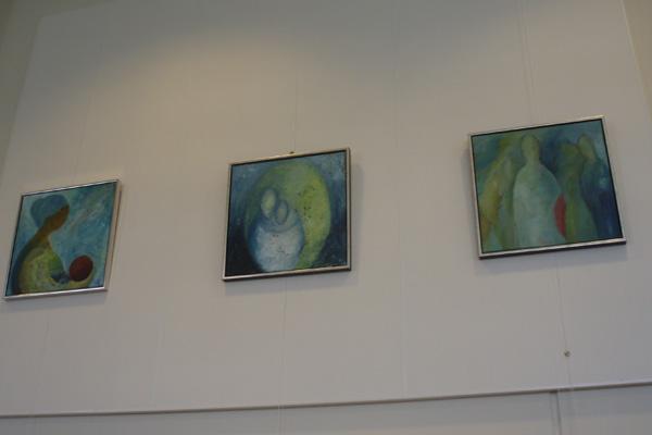 Fire SæbyKunstnere på biblioteket