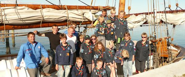 Spejderne sejlede en tur til Fur i weekenden