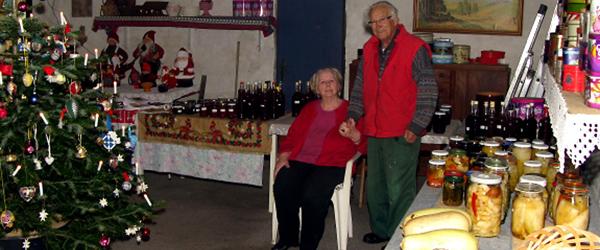 Marie og Børge holder marked…..