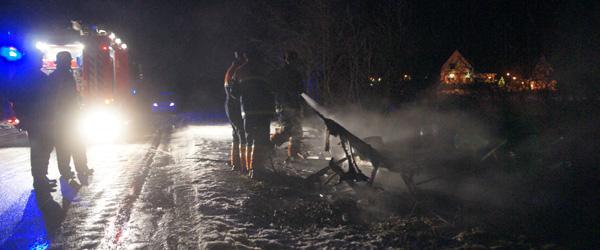 Brand i campingvogn ved Svalereden Camping