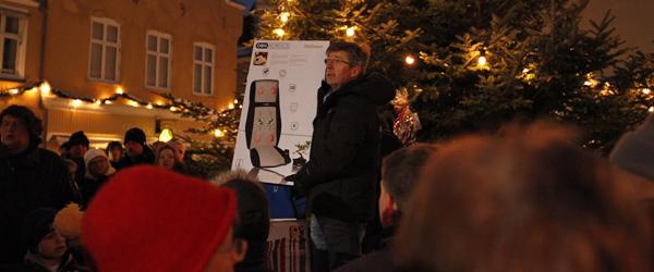 Skorstens skinke, auktion og julehygge på Torvet