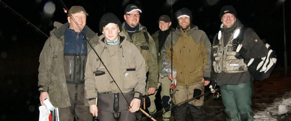 Nattens fiskeri blev en kort fornøjelse