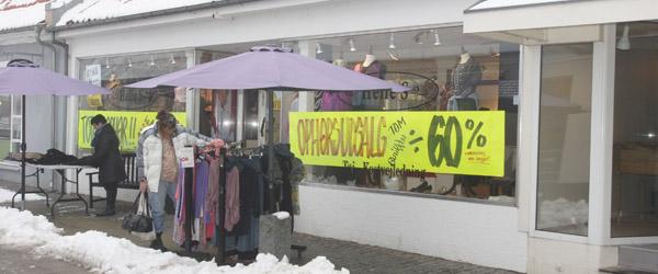 Tøjbutikken Helle S i Sæby lukker