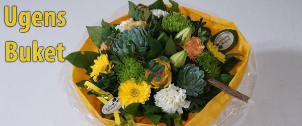 Ugens flotte buket fra Bellis Blomster går til: