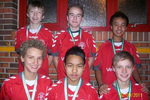 Historisk sølvmedalje til IF Skjold Sæbys U14 drenge