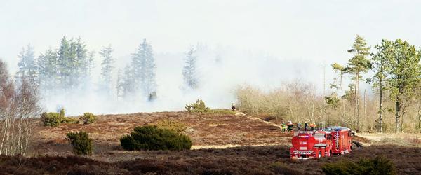 Politi og brandfolk advarer mod brug af åben ild