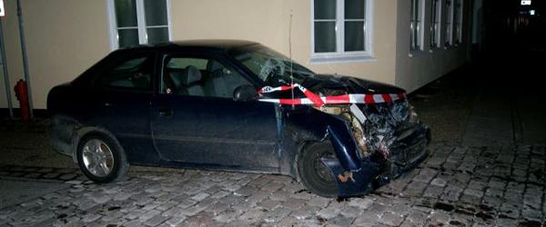 Stjålen bil impliceret i færdselsulykke i Sæby