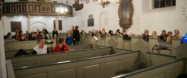 7. klasserne sang gospel i Sæby kirke
