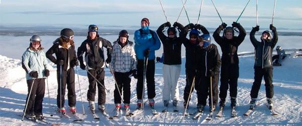 På skitur med skolepatruljen til Sverige