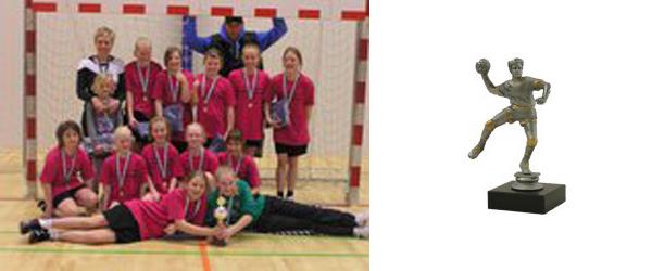 Guldmedaljer til ØVI håndbolds piger