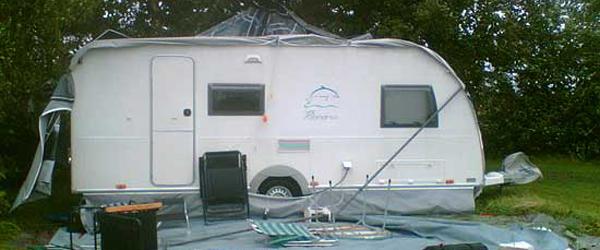 Campingfolket fik en skidt start på sæsonen