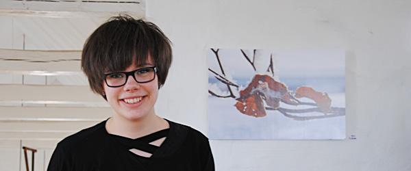 16 årige Ina Rosdal fra Skagen udstiller i Østervrå
