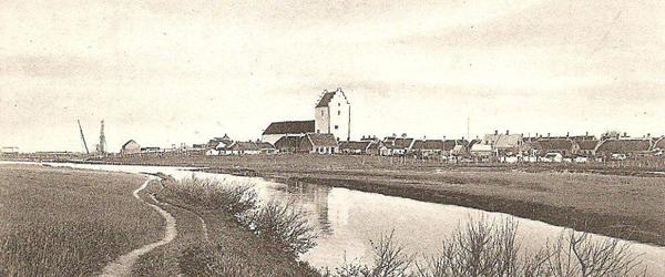 Gammelt postkort med motiv fra Sæby