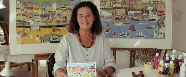 Maleri af Mette Rehne skal markedsføre Sæby