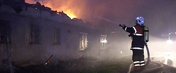 Landejendom ved Dybvad nedbrændt i nat