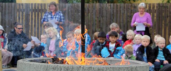 Børnehaven på Violvej holdt også Sankt Hans