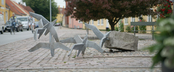 Et af Sæby's vartegn væltet omkuld lørdag nat