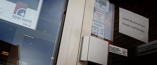 Bankrøveri mod Spar Nords afdeling i Sæby