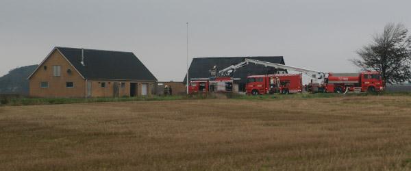 Brand på ubeboet ejendom nær Hørby