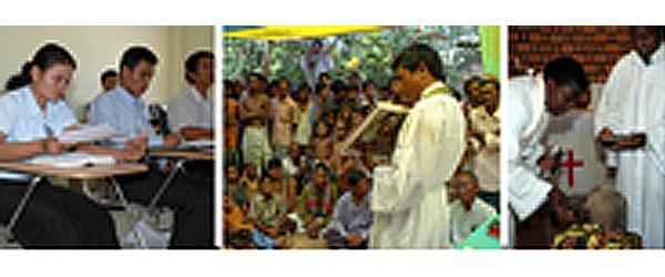 To unge præster fra Cambodia besøger Mariehuset
