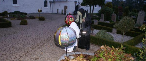 Halloween-gys i Albæk kirke torsdag aften