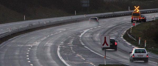 Solouheld på E45 ved Sæby i morges