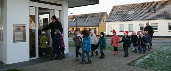 Julehygge for børn i Sparekassen Vendsyssel