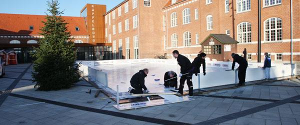 Sæby is/skøjtebane klar til brug i Skagen