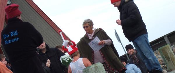 Vikingedåb i Sæby Vinterbadeklub De Blå Næser