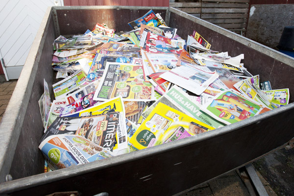 75 kg reklamer i postkassen – på et år!