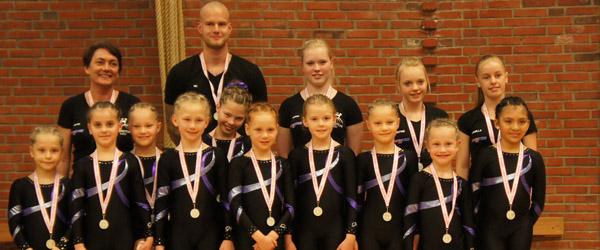 DM sølv til Springteam Sæby pigerne