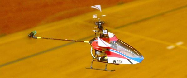 Helikopterflyvning i Voersåhallen