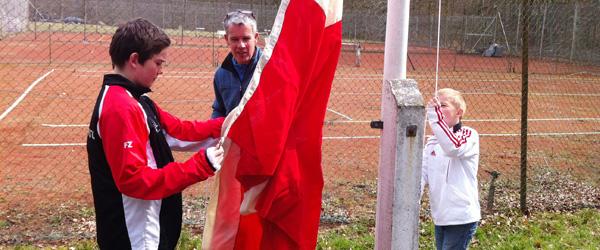 Standerhejsning Sæby Tennis Klub – Tennissæsonen åbnet