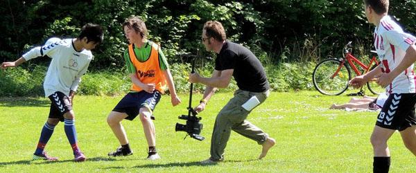 Amatører og professionelle laver film på Hørby Efterskole