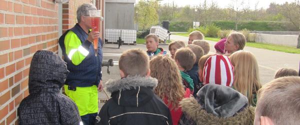 Minispejdere på rensningsanlæg i Sæby