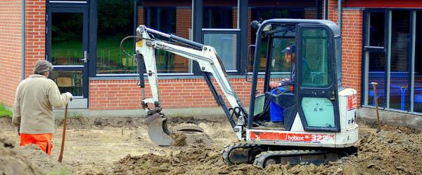 Første spadestik til byggeri på Hørby Efterskole