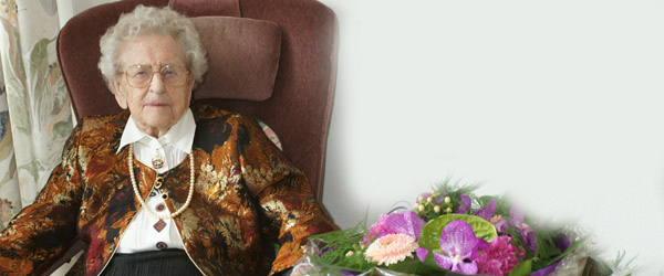 Sæby Ældrecenters ældste beboer fylder 102 år