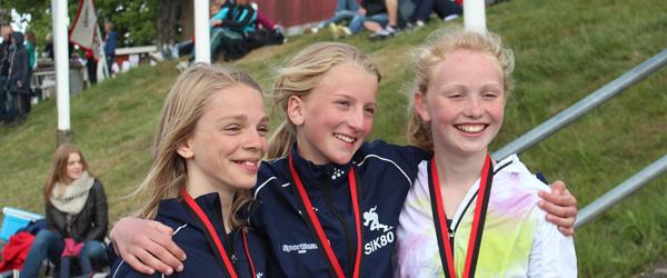 Mange medaljer til SIK 80 i Sverige