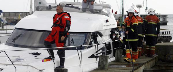 Falck i Sæby kaldt til brand i motorbåd