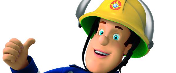 Brandmand Sam slukker brande på Torvet