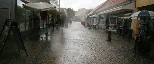 Skybrud i Sæby gav oversvømmelse flere steder